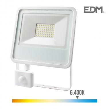 *ult.unidades*  foco proyector led 50w 3500 lm 6400k luz fria con sensor de presencia edm