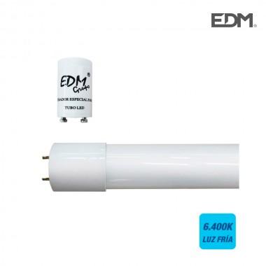 Tubo led t8 18w 1600 lm 6500k luz fria (eq.36w) edm