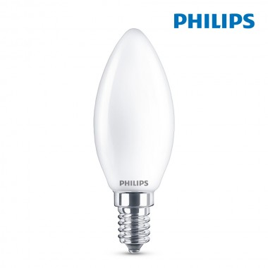 Bombilla vela led e14 4,3w 470lm 2.700k luz calida philips