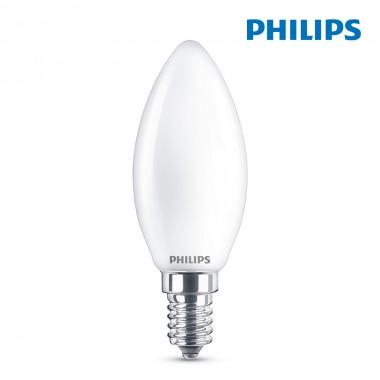Bombilla vela led e14 4,3w 470lm 4.000k luz dia philips