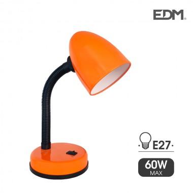 Flexo de sobremesa modelo amsterdam e27 40w naranja edm