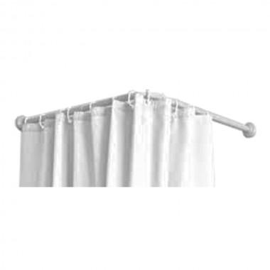 Barra de cortina - curva - blanca - 70x100 a 175cm