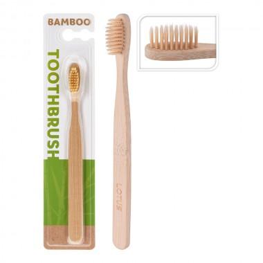 Cepillo dientes cuerpo bambu cerdas nylon