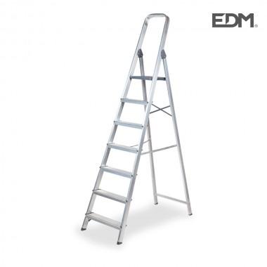 Escalera domestica aluminio 7 peldaños edm