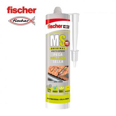 Ms sellante adhesivo gris 546185 fischer 290ml