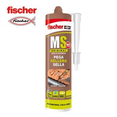 Ms sellante adhesivo marron 546186 fischer 290ml