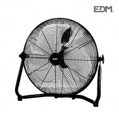 Ventilador industrial de suelo negro  110w ø aspas 45 cm edm